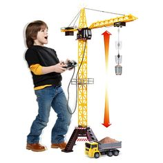 Fast Lane Action Wheels Mega Crane Set   ToysRUs