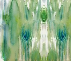 watercolor fabric | The designer Cest La Viv on Spoonflower has many beautiful watercolor ...