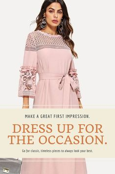 Looking for classy, elegant, sophisticated outfits that's just at the right price? Browse through a collection of women's fashion for casual look, for work, or for evening events or boho designs. Dresses that fits any season. Classy Dress, Classy Outfits, Chic Outfits, Work Outfits, Sophisticated Outfits, Elegant Sophisticated, Boho Fashion, Womens Fashion, Boho Designs