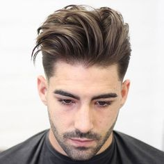 Long Textured Quiff Haircut + Low Fade - Best Men's Textured Haircuts - Cool Textured Hairstyles For Men + Textured Hair For Guys New Men Hairstyles, Quiff Hairstyles, Cool Mens Haircuts, Modern Hairstyles, Textured Hairstyles, Men's Haircuts, Mens Medium Length Hairstyles, Pompadour Hairstyle, Asian Hairstyles