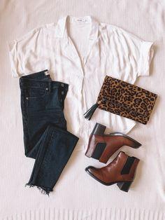 0e380d063b52 Chelsea boots, leopard clutch, leopard print, fall fashion, trendy fashion,  hipster