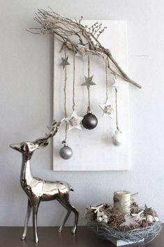 Ветки для новогоднего декора. Красивые идеи #идеи_для_декора #новогодние_поделки #своими_руками #будем_делать