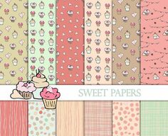 Hand Drawn Cupcake Digital Paper+Cupcake Clip Art Images Cupcake Background Paper Birthday Digital Paper Party Invite Birthday Card Making Birthday Wishes For Mother, Birthday Presents For Dad, Birthday Present For Boyfriend, Birthday Wishes For Myself, Birthday Gift For Wife, Presents For Boyfriend, Best Birthday Gifts, Funny Birthday Cards, Birthday Cakes