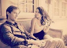 Drew Van Acker (Jason) and Janel Parrish (Mona) on the set of Pretty Little Liars. Jason Dilaurentis, Chad Lowe, Spencer And Toby, Laura Leighton, Drew Van Acker, Pretty Litte Liars, Janel Parrish, Cody Christian, Perfect Boy
