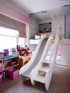 Little Girls Bedroom With Slide