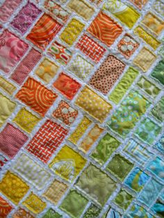 Waaaaay beyond my capabilities, but beautifuly.  tickertape baby quilt by teaginny