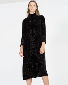 Image 2 of LONG VELVET DRESS from Zara