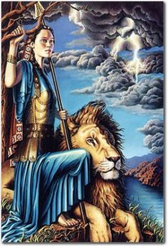 "prophetic art by Donna Smallenberg. It's called ""Arise, Shine"".I have a King, a lion, who stands by me, with him I am always victorious."