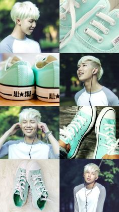 Rap monster mint green converse aesthetic || by: shxxtxnxnymxxs || do not edit || use credits || request if you want just follow me :)