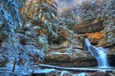 Cedar Falls, Hocking Hills OH Dec 2013. It's a photograph!