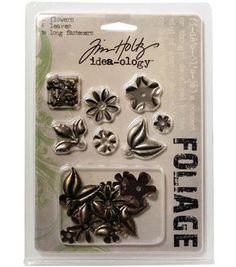 Tim Holtz Idea-Ology Foliage Fasteners-12PK/Flowers