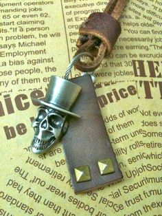 Antique silver pirate Necklace by Victorianstudio on Etsy, $9.49