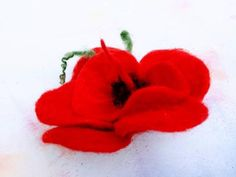 Wild Poppies, Flower Brooch, Vintage Gifts, Poppy, Brooches, Flora, Wax, Vintage Fashion, Handmade