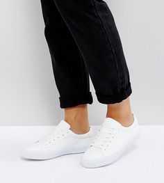 ASOS DEVLIN Lace Up Sneakers - White