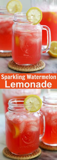 Sparkling Watermelon Lemonade – this bubbly watermelon lemonade recipe is all you need this summer. So refreshing and so easy to make | rasamalaysia.com
