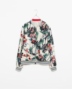 Image 7 of PRINTED BOMBER JACKET from Zara