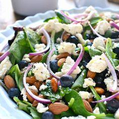 lemontreedwelling.com blueberry feta onion spring summer salad