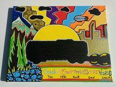 Coast to Coast 11x14 Canvas Acrylic Trippy Dreamy by LunasNook