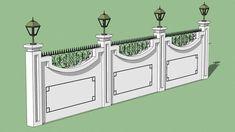 Villa Boundary Wall Design 70 New Ideas House Front Wall Design, Fence Wall Design, Exterior Wall Design, House Outside Design, Door Gate Design, Compound Wall Gate Design, Boundry Wall, Bungalow Haus Design, Classic House Design