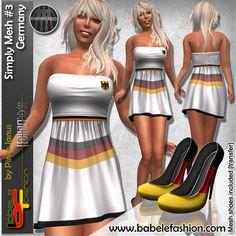 Germany flag dresses by babele Fashion