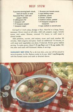 Vintage Recipes: Meat Recipes Part 1 Retro Recipes, Old Recipes, Vintage Recipes, Cookbook Recipes, Meat Recipes, Cooking Recipes, 1950s Recipes, Cooking Ideas, Gastronomia