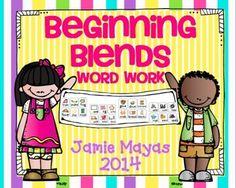 Beginning Blends Word Work!!!