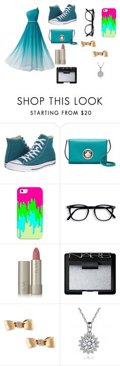 """""""Prom"""" by emma-387 ❤ liked on Polyvore featuring Converse, Kate Spade, Casetify, Ilia, NARS Cosmetics and Mimi So"""