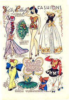 (⑅ ॣ•͈ᴗ•͈ ॣ)                                                            ✄Katy Keene Paper Doll c. 1956