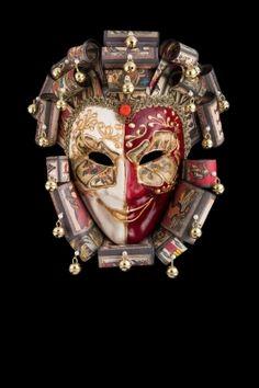 Corrado Joker venetian papier mache for sale. handcrafted in venice by venetian masters Carnival Masks, Carnival Costumes, Joker Card, Marionette, Masks For Sale, Venetian Masks, Headdress, New Trends, Masquerade