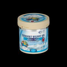 Tatranský bylinný gél - chladivý 250 ml Coffee Cans, Coconut Oil, Jar, Cosmetics, Canning, Food, Essen, Meals, Home Canning