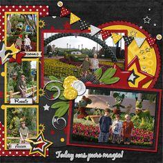 Disney World epcot scrapbook layout