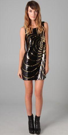 sequin shift dress by rachel zoe