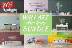 Wall Art Mockups BUNDLE V19 by Creative Interiors on @creativemarket