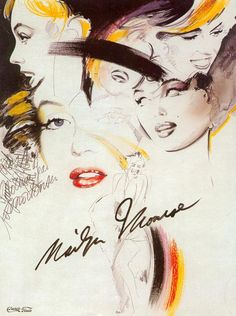 drawing marilyn Monroe