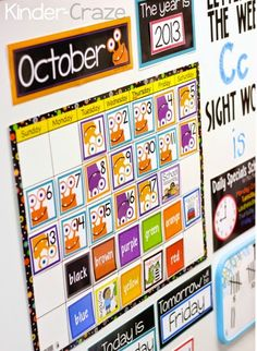 Cute ideas and resources for creating a classroom calendar area