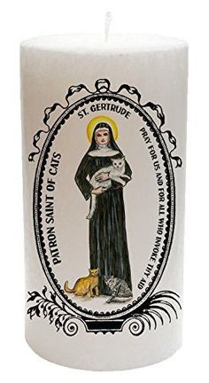 St Gertrude Patron of Cats Palm Wax 20 Ounce Scented Candle