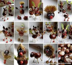Chestnut Crafts Ideas - Nature Crafts Ideas - Fall Crafts to Make and Sell Kids Crafts, Diy Projects For Kids, Diy For Kids, Diy And Crafts, Craft Projects, Craft Ideas, Autumn Crafts, Nature Crafts, Autumn Activities