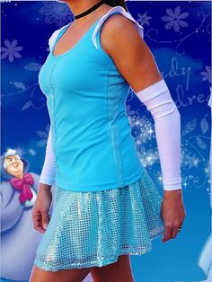 Cinderella inspired complete running outfit by iGlowRunning, $89.00 - love the sleeves