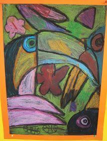 Art with Mrs Baker: Grade 1/2 Oil Pastel Toucans