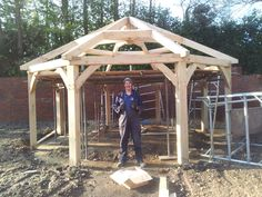 Oak gazebo frame kit. http://gazebokings.com/