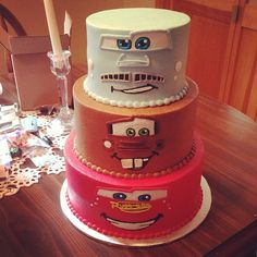 My Son Dylen's 4th Birthday Cake Cars Theme(He picked it out)