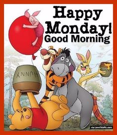 Winnie The Pooh Happy Good Morning Monday