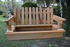 Cedar Porch Swing Bird Feeder Bird Hang out  Free US Shipping <3 View the item in details by clicking the image