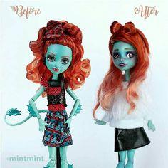 #monsterhigh #lorna mcnessie #repaint #repainted doll #ooak #custom doll #ooak doll #doll #hair bow