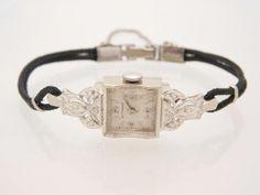 Vintage 1940s wittnauer 14k gold watch with 2 by cristalkingdom ladies 14k white gold diamond wittnauer mechanical vintage wrist watch 39108 sciox Choice Image