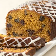 PUMPKIN BREAD Whenever we have a company gathering, this pumpkin bread is one of the first things to disappear. Super-moist and packed with flavor, it can be made into a simple pumpkin loaf; or enhanced with chocolate chips and/or nuts. Or raisins. Or cinnamon chips. Or...