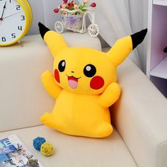 Costumes & Accessories Cartoon Anime Pokemon Pikachu Plush Toy Fashion Creative Dark Pikachu Sitting Position Plush Doll Child Birthday Present Elegant In Smell