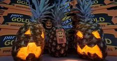 This Halloween get behind a new Aussie tradition and support our Queensland pineapple growers by having a go at carving a sweet Spooky Pine. Gold Pineapple, Spooky Halloween, Carving, Pure Products, Traditional, Sweet, Scary Halloween, Candy, Wood Carvings