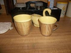 my 2 new retro cups....69 cents..what a  deal....