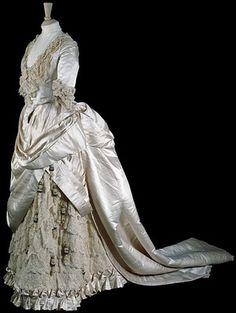 Satin Wedding Gown, 1885